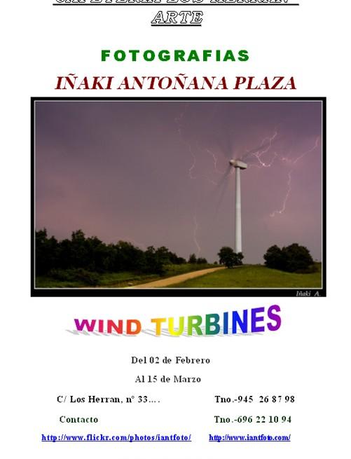 """Exposicion en La cafeteria Los Herran ( Vitoria-Gasteiz ) """"Wind turbines"""""""