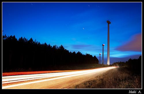 Nocturnas en los Aerogeneradores de Codes ( Navarra )