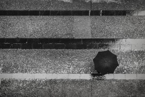 Paraguas. Reto #vianaraw Vista cenital.