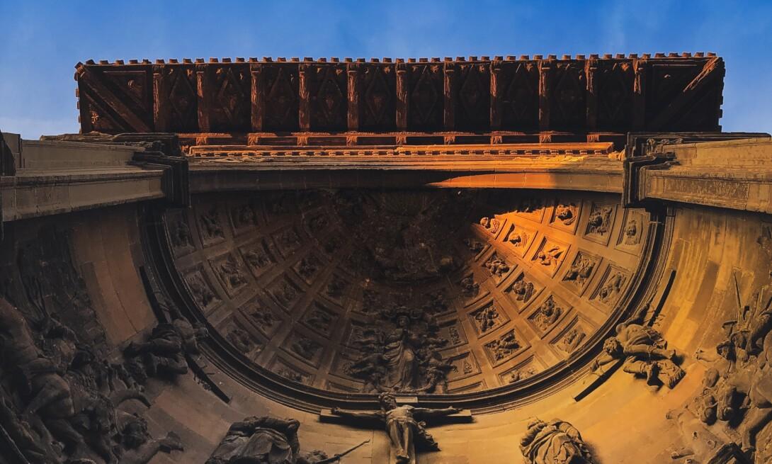 Pórtico de Santa María de Viana ( Navarra)