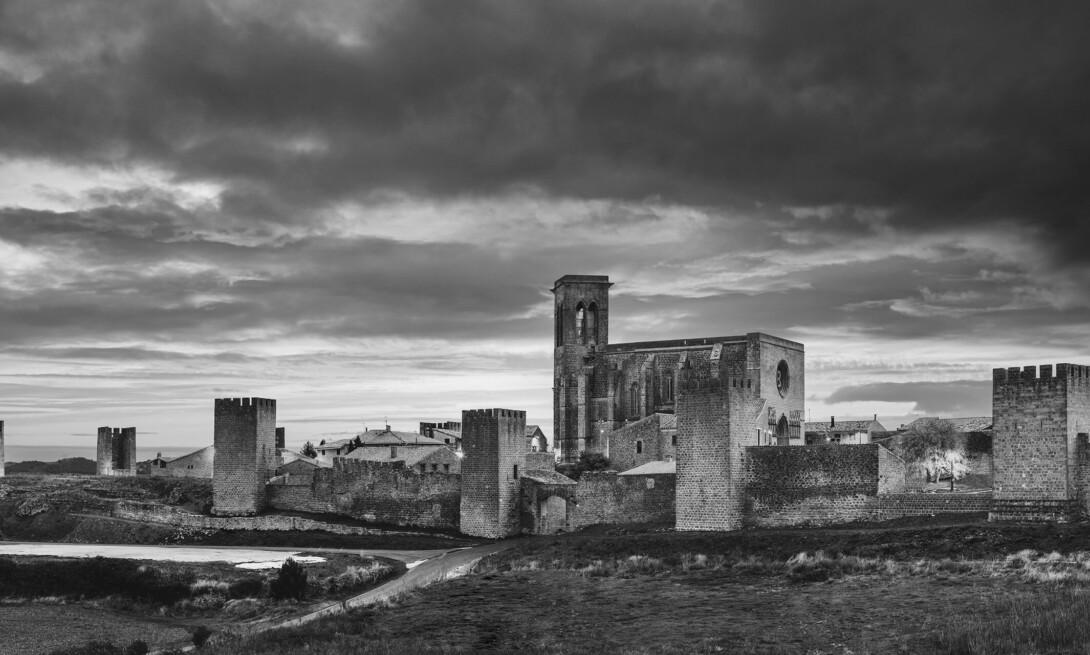 Panorámica del cerco de Artajona (Navarra)